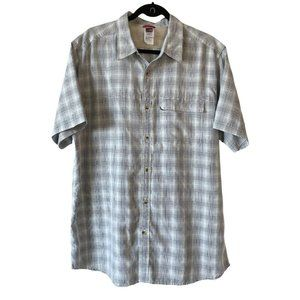 North Face Plaid Short Sleeve Shirt Button Front